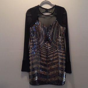 Alexis LS Cutout Sequin Dress